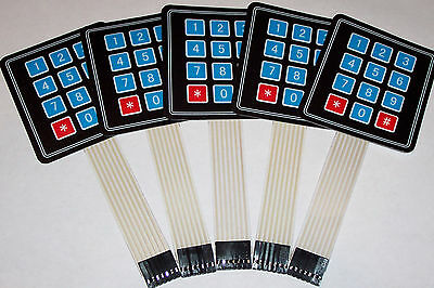 5 PCS 4x3 Matrix Array 12 Key Membrane Switch Keypad,Arduino/AVR/PI​C USA SHIP !