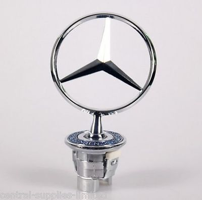 MERCEDES BENZ BADGE LOGO BONNET EMBLEM HOOD 44mm W124 W202 W203 W208 W210 W211