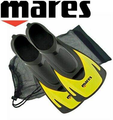 Mares HERMES ADULTS Swim Snorkel Training Short Fins Flippers + FREE BAG YELLOW