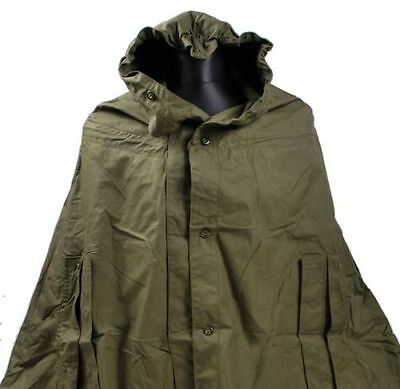 WATERPROOF RAIN PONCHO MILITARY GENUINE ARMY SURPLUS BLACK or GREEN