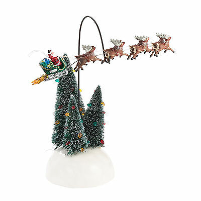 Department 56 Snow Village Christmas Vacation Animated Flaming Sleigh 4030744