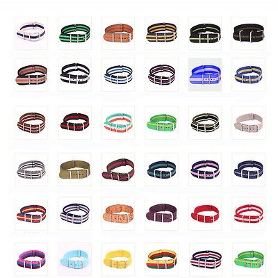 20mm New Arrivals Army Watchband Woven Fiber Nylon Watch Strap Wristwatch Bands