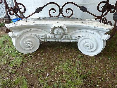 "GORGEOUS c1916 pilaster CAPITOL pediment salvaged HARVARD college 45"" x 13 x 15"""