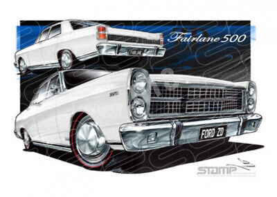 Fairlane 500 1971 Zd Ford 500 Fairlane Ultra White  Stretched Canvas (Ft201D)