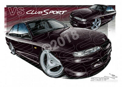 HSV Clubsport VS VS CLUBSPORT CHERRY BLACK  STRETCHED CANVAS (V158)