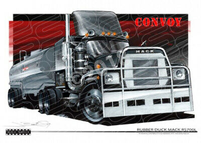 Truck RUBBER DUCK RS700L TRUCK  STRETCHED CANVAS (M019)-New_Itemq