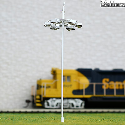 5 pcs OO or HO scale Plaza Lamp Model Lamppost 12V street lights Layout Scenery