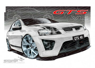 HSV Limited edition cars VE GTS 40TH ANNIVERSARY HERON WHITE  STRETCHED CANVAS (