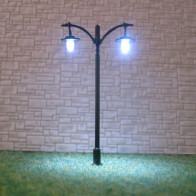 15 pcs HO scale Model Lamppost LED made Lamp long life cold street light #L511