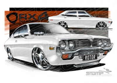 Imports Mazda RX4 WHITE  STRETCHED CANVAS (S009H)-New_Itemq