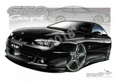 HSV Coupe GTO COUPE PHANTOM BLACK  STRETCHED CANVAS (V109)