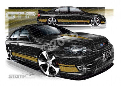 FPV BF GT BF GT-P II SILHOUETTE GOLD STRIPES  STRETCHED CANVAS (FV158)-New_Itemq