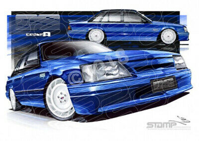 Commodore VK VK SS FORMULA BLUE MEANIE WHITE WHEELS  STRETCHED CANVAS (HC03)