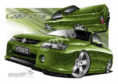 Ute VY SS VY SS UTE HOT HOUSE GREEN  STRETCHED CANVAS (HC28)
