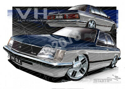 Commodore VH 1981 VH BLUE OVER SILVER SLE COMMODORE  STRETCHED CANVAS (HC123)