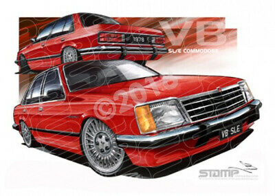 Commodore VB 1978 HOLDEN VB SLE COMMODORE RED  STRETCHED CANVAS (HC117)-New_Item