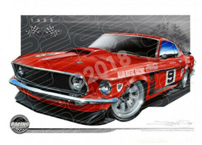 Racing Legends 1969 ALLAN MOFFAT FORD MUSTANG  STRETCHED CANVAS (RL03)