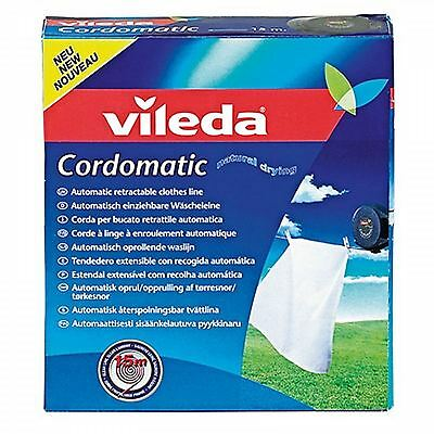 Vileda Cordomatic Retractable Clothes Drying Washing Line 15m Weather Resistant