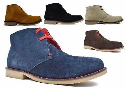 Mens Boys Suede Leather Lace Up Desert High Quality Casual Desert Boot Size 6-12
