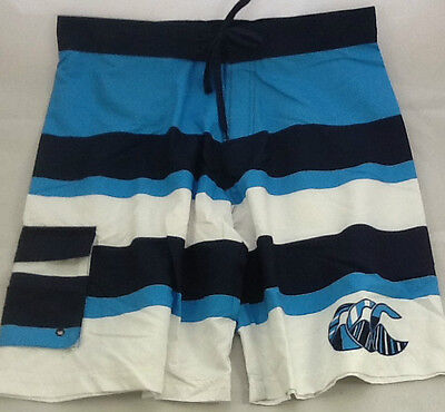 Canterbury Rugby Mens Uglies Board Shorts Striped - Size Large Navy