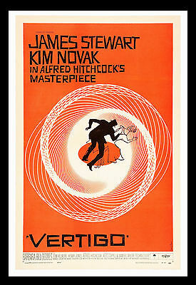 011 Vintage Movie Art Poster Vertigo