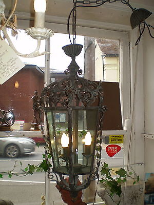 French Ornate Iron Art Nouveau Style, Electric Ceiling Chanderlier Lamp,Lantern