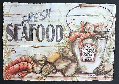 Paper Placemats 25 Pack Fresh Seafood Design Free Shipping