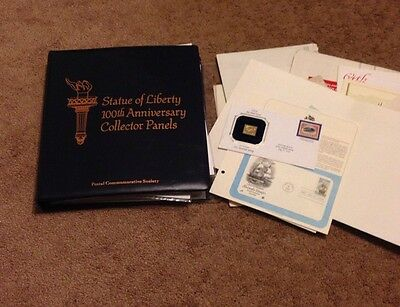 Postal Society 100th Anniversary Statue of Liberty 54 Collector Panels w Stamps