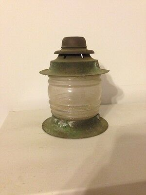 Great Antique Lamp Light Fixture Glass Brass Looking Free Shipping