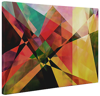 Abstract Canvas Modern Triangle Shapes Wall Art Print Large a1 a2