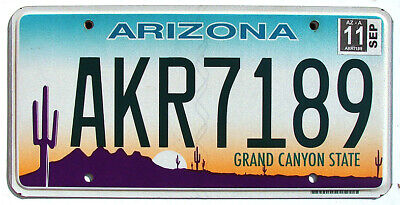 Arizona DESERT CACTUS Flat License Plate - GRAND CANYON STATE