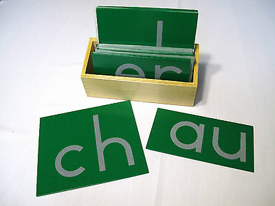 NEW Montessori Language Material - Sandpaper Double Letters Print with Box