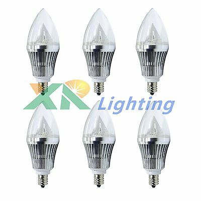 6x E12 Base 6W 9W Dimmable Sharp High Power LED Chandelier Candle Light Bulb