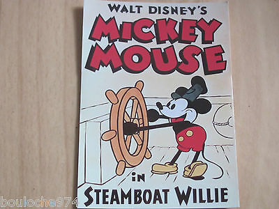 """CARTE POSTALE """" MICKEY MOUSE  STEAMBOAT WILLIE """" neuve"""