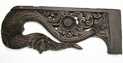 Old Corbel Pediment Crown Ornate Architectural Salvage Carved Dark Hard Wood