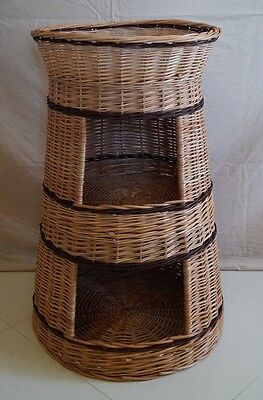 Wicker willow round 3 tier bunk baskets bed for pet cat kitten dog puppy rabbit