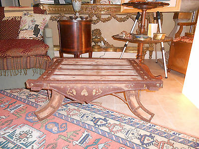 Antique Elephant Saddle, Super look for Cocktail Table, Ottoman, Side table,