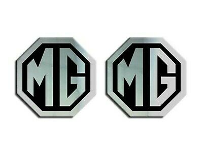 MG TF LE500 70mm Badge Insert Set Front Grill Rear Boot  MG Logo Chrome Black
