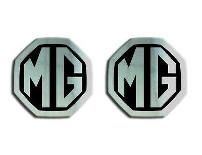 MGF MG ZS ZR Logo Badge Inserts Front Grill Rear Boot Badge 59mm Chrome Black