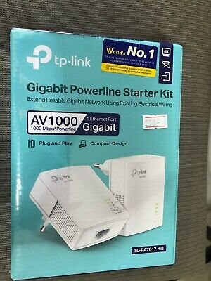 TP-Link TL-PA7020 KIT EU 2 Port Gigabit PowerLine Adapter 1000Mbps HomePlug NEW