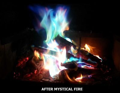 MYSTICAL FIRE (50 pkts) - Camping Novelty Fun Coloured Magical Campfire Flames