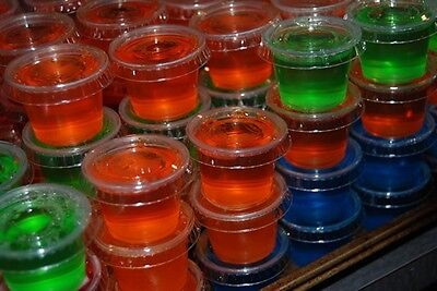 1 oz Jello Jelly Shot Cups with Lids Option Souffle Portion Clear Plastic