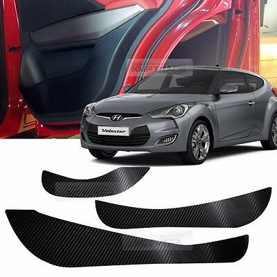 Carbon Door Decal Sticker Cover Kick Protector For HYUNDAI 2011-2017 Veloster