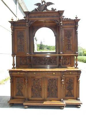 BEAUTIFUL WELL CARVED ITALIAN FIGURAL DINING ROOM SET SERVER - 14IT030B