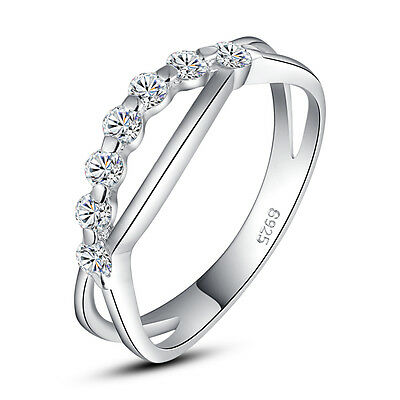 ViVi Ladies Engagement sterling silver Diamond Ring 8470a Birthday Gifts