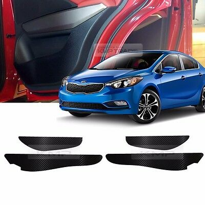 Carbon Door Decal Sticker Cover Kick Protector For KIA 2013-2017 Forte Cerato K3