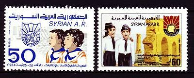 Syrien Syria 1984 ** Mi.1592/93 Festival of Baath Pioneers | Baath Jungend Youth
