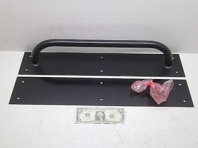 New Metal Extra Large Door Handle Pull With Backplate Black See Photos Free Ship