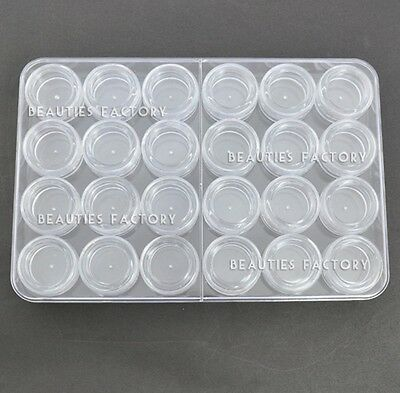 Storage Bottle Plastic Empty Box Case Pot For Nail Art Rhinestone Bead Gems 752A