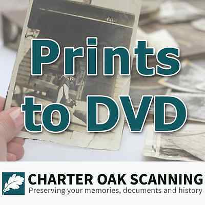 1000 Prints converted to DVD [Photo Scanning Service]